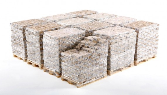 """Here is a million dollar art work that speaks volumes about its value $1,000,000,000 without any camouflage.   The One Billion Dollars by Art Marcovici needs no description.  """"One Billion Dollars is stacked on 12 standard pallets, alltogether 10 million 100 USD notes. One Billion Dollars is not so much about what you see but what you could do or not do with the money. Besides, this is the most expensive piece of art ever made."""""""