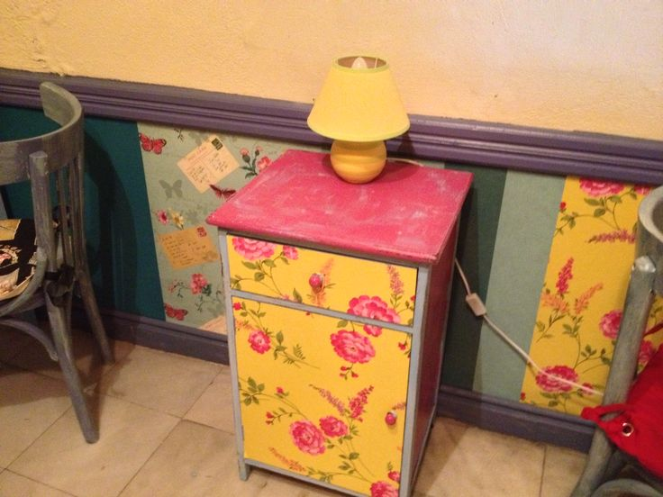 Re-purposing a night stand! DIY Kimolia style!