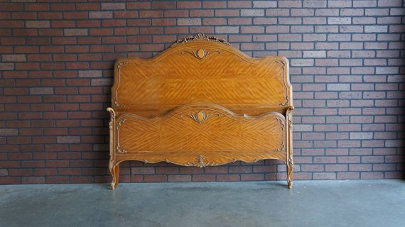 Antique Full Bed / Bed / Shabby Cottage Bed / French Style / Vintage Double Bed Frame ~ Paint To Order ~