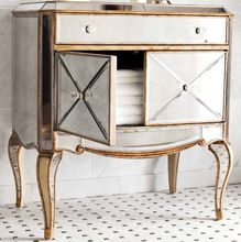Mr-401115 antika altın rimming yansıtılmış göğüs yatak odası mobilya(China (Mainland))