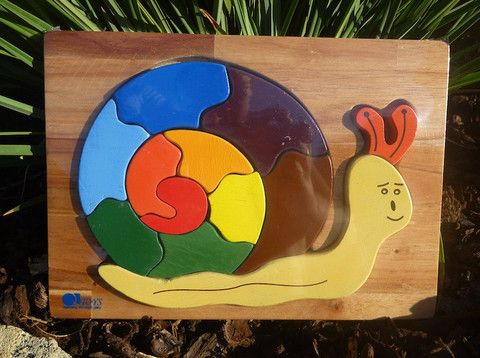 Wooden Puzzles, Snail - The Natural Newborn - 1