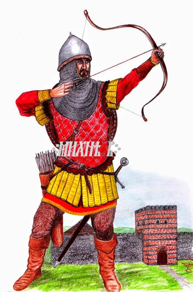 Wallachian archer XIVth century. by Mihai B