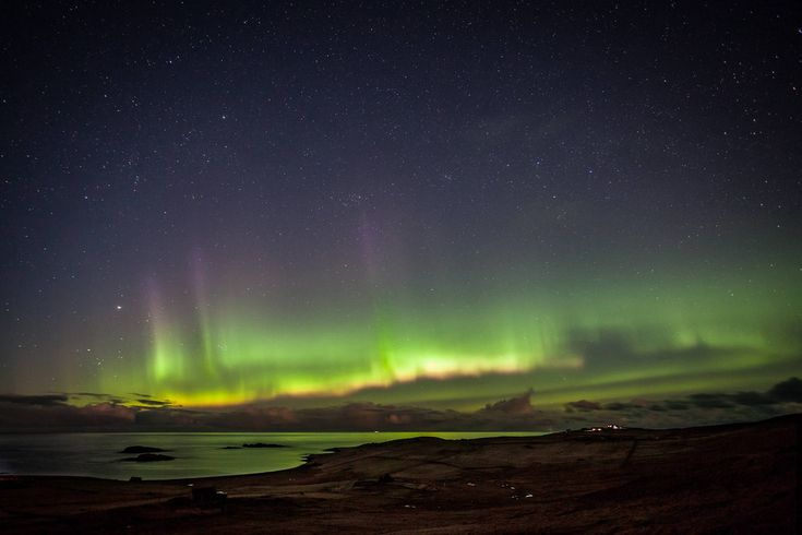 "The aurora is visible in northern parts of the Scottish mainland as well as Shetland and Orkney, where the lights are known as the ""merry dancers""."