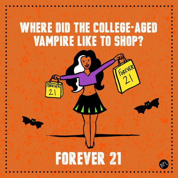This joke about vampires: | 13 Halloween-Themed Dad Jokes That Are So Bad They're Actually Good