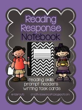 Reading Response Notebook ~ Writing Prompts ~ Fiction and Non fiction