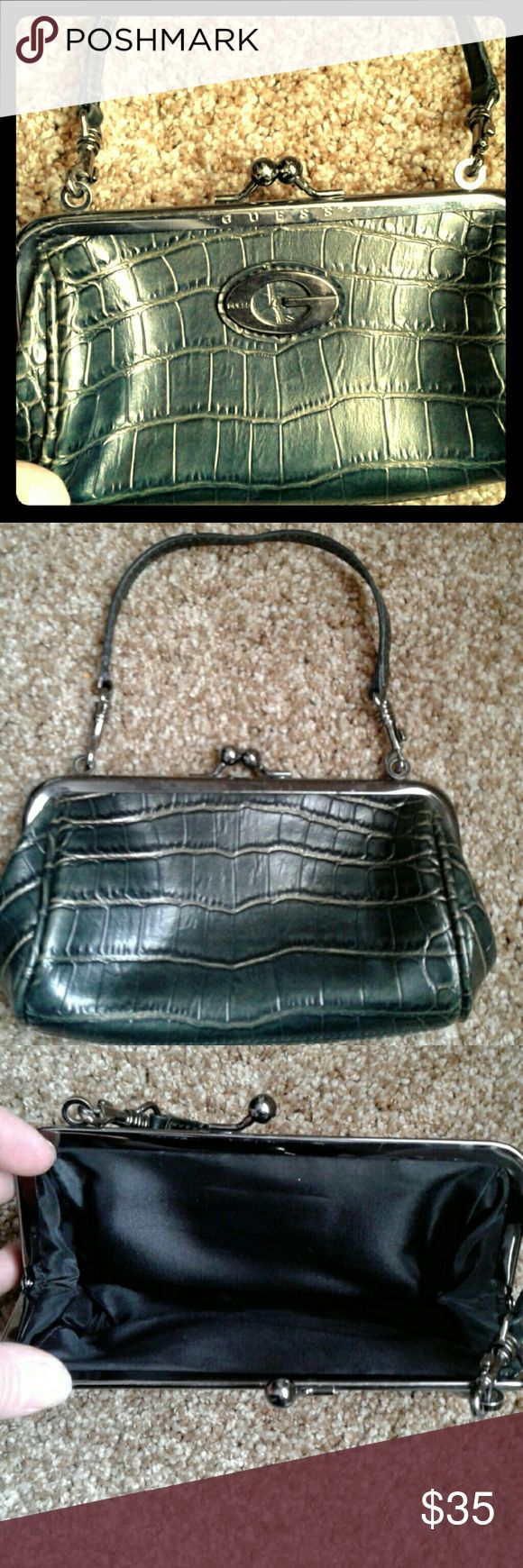 Guess clutch Genuine leather, brand new never used, very stylish, would look great on a night out in the city or just a casual dinner. Guess Bags Clutches & Wristlets