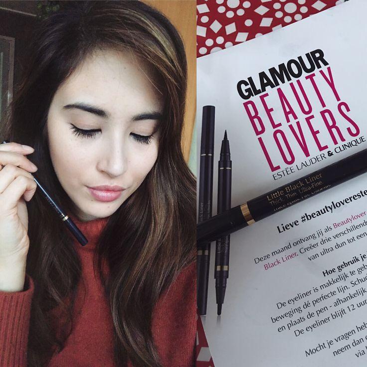 Heel blij met het nieuwe Estée Lauder testproduct! Deze Little Black Liner maakt het aanbrengen van eyeliner veel gemakkelijker 😉 #beautyloveresteelauder #glamourbeautylover
