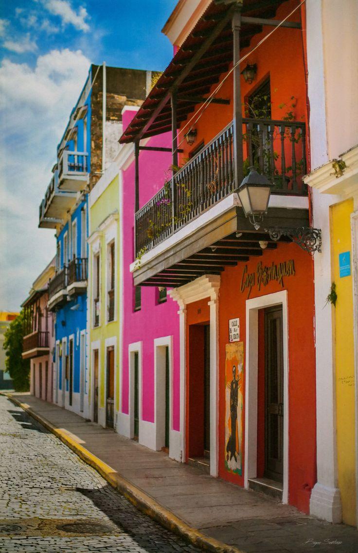 San Sebastian Street Old San Juan 22 Quot X 32 Quot San Juan