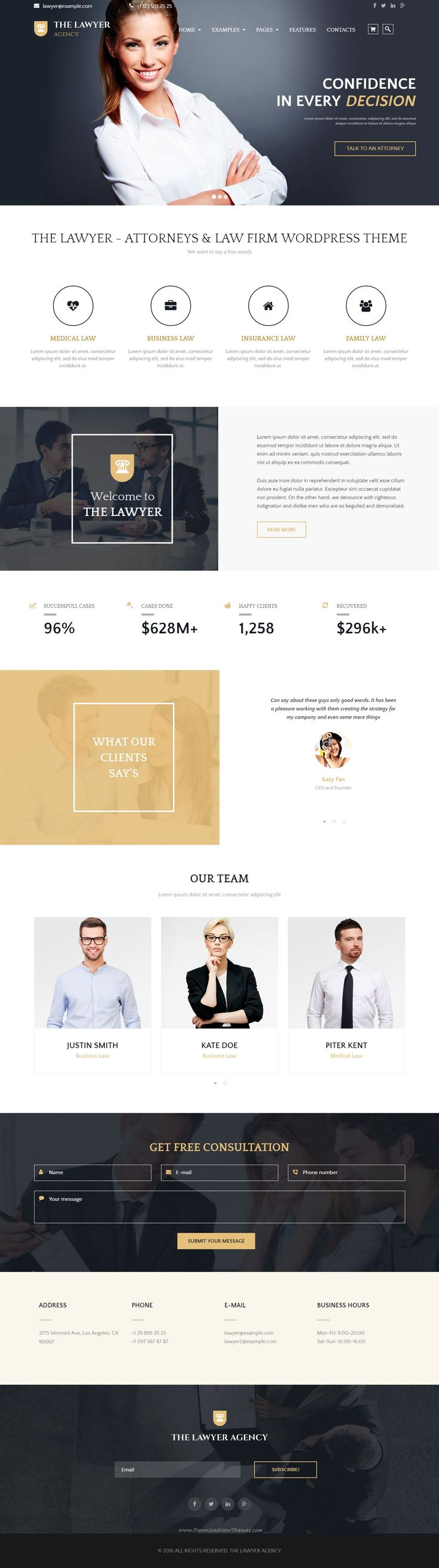 The Lawyer - Attorneys & Law Firm WordPress Theme #lawyer #website Live Preview & Download -> http://themeforest.net/item/the-lawyer-attorneys-law-firm-wordpress-theme/15107662?ref=Datasata
