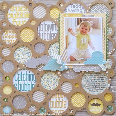 Love the background using a mat (Melinda Spinks Jillibean Soup)