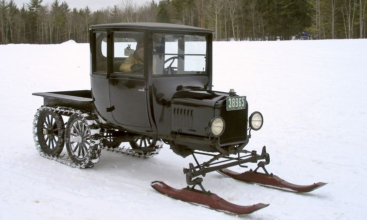 Model T With Tracks And Skis Gettin It Done In The Snow