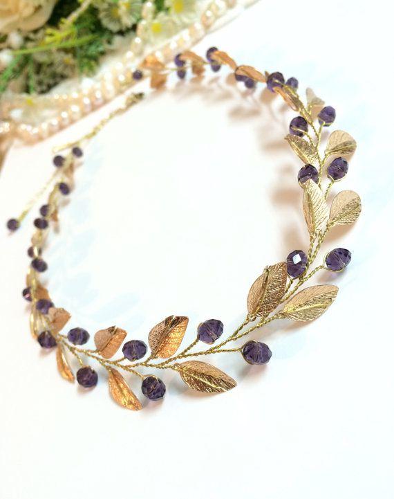 Gold bridal tiara crystal tiara wedding tiara от FlowerRainbow