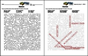 edHelper.com | Back to School Word Searches - Worksheets, Lessons, and Printables  - I love how they have a customizable word search for students' names!