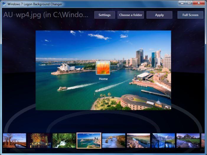 Windows 7 Lock Screen Background Changer