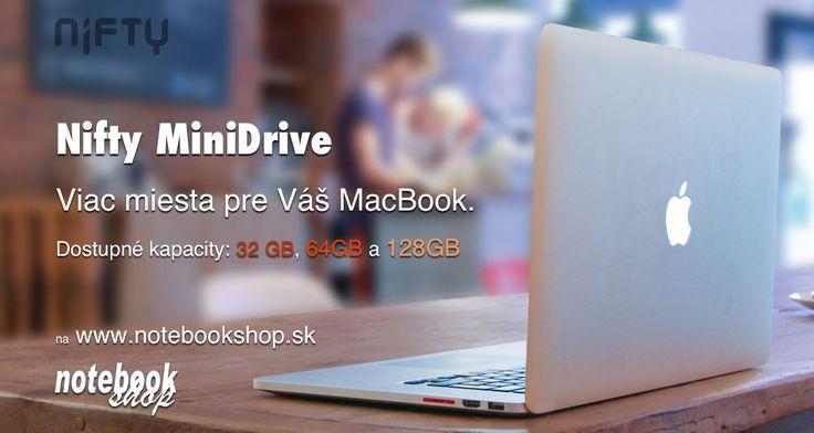 Nifty MiniDrive - Rozšírte kapacitu svojho MacBooku až o 128GB. Jednoducho a rýchlo.