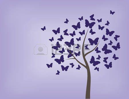 boom vlinder Vector kleurrijke achtergrond kunst abstract vlinders natuur de lente decoratie illustr Stockfoto