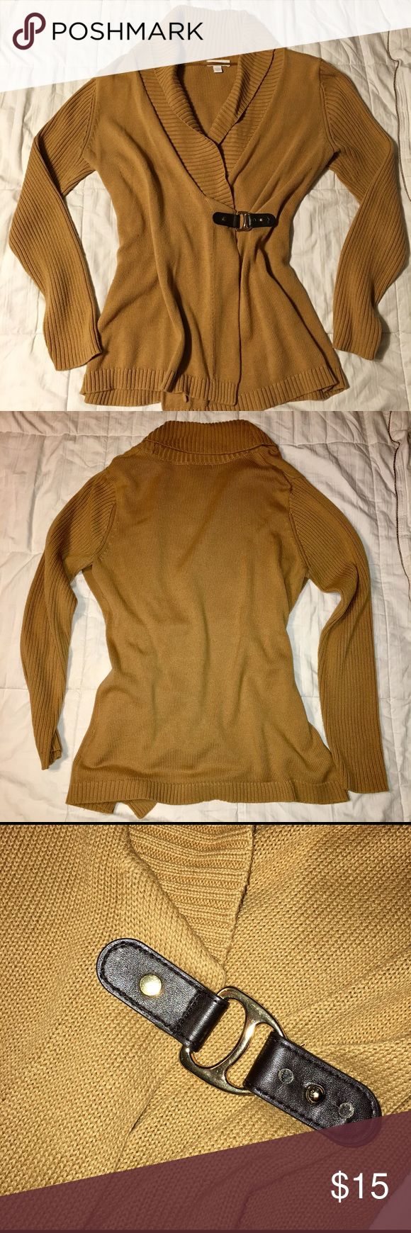Charter Club Wrap Sweater with brown buckle Charter Club Wrap Sweater with brown buckle.  Pair with jeans and riding boots for a super cute fall look! Charter Club Sweaters