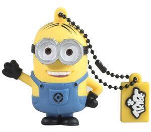 """USB 8 GB - Dave - Minion  Due grandi occhi e capelli perfettamente curati, Dave è il #Minion gentile e premuroso, amante di gelati e torte. Tra un incidente e l'altro, passa il suo tempo libero a giocare ai videogames, con il suo amico Stuart! I minion sono personaggi piccoli e gialli, i fedeli aiutanti del """"Supercattivo"""" Gru, nel film """"#CattivissimoMe"""". Sembrano usciti in serie da una catena di montaggio imprecisa, tutti quasi uguali ma nessuno identico all'altro!"""