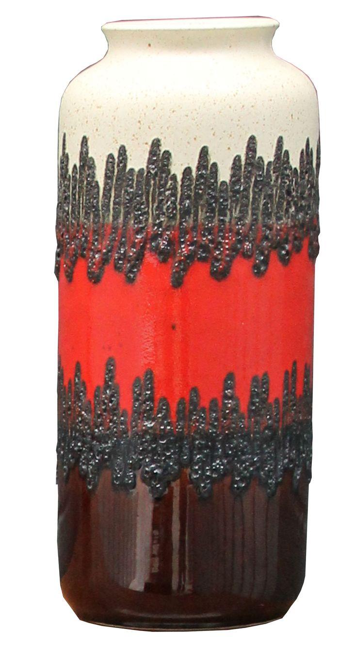Vintage Retro Bay Keramik W. German Fat Lava Studio Vase