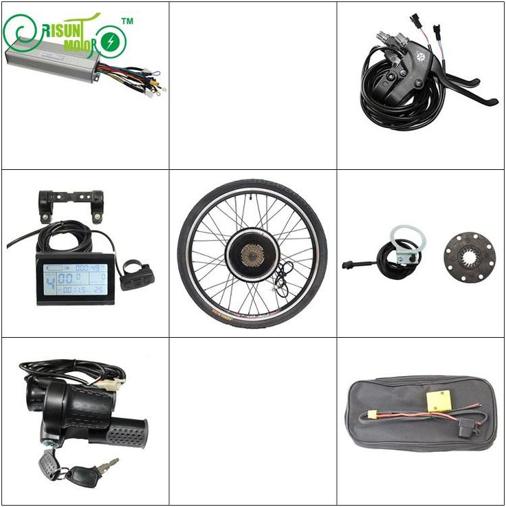 "RisunMotor E Bike Conversion Kit 36V 48V 1500W Rear Motor Wheel 20"" 24"" 26"" 29e 700c 28"" Controller LCD Brake Electric Bicycle"