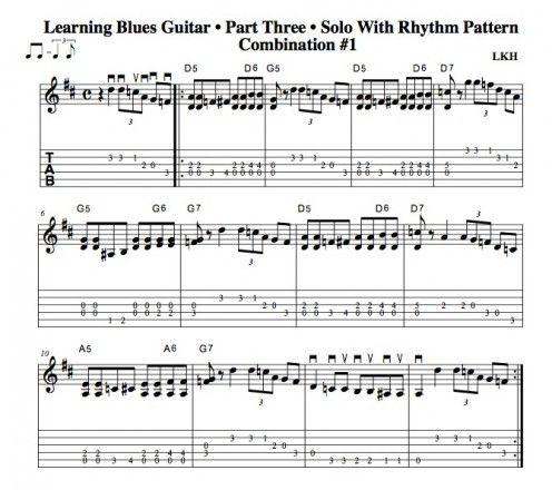 learning blues guitar part three chord progressions rhythm patterns solos guitar. Black Bedroom Furniture Sets. Home Design Ideas