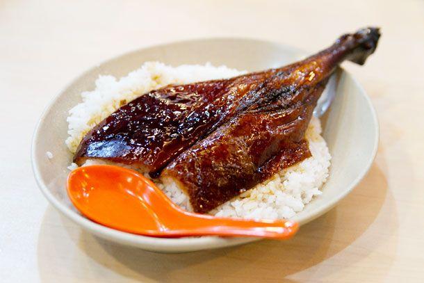 Snapshots from Hong Kong: Roast Goose Leg and Roast Pork from Yat Lok. #travel #food