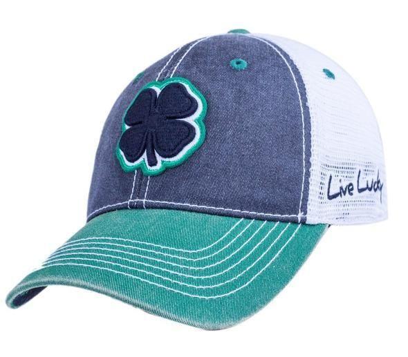 Headwear Hat Black Clover Two Tone Vintage 11 Golf Hat Green Black White Golf Gloves Golf Hats Hats