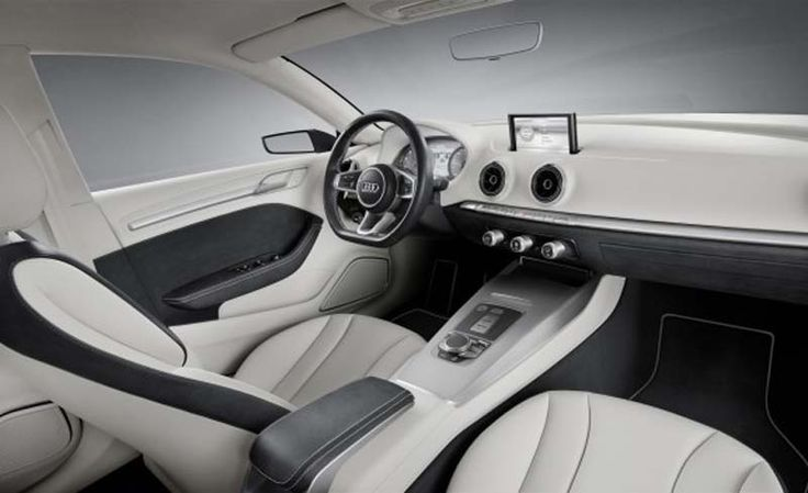 Audi A3 presents simple driving environment with the touch of black and white color