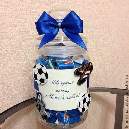 """Подарки для влюбленных ручной работы. Ярмарка Мастеров - ручная работа. Купить Баночка """"100 причин почему я тебя люблю"""" с жвачками Love is. Handmade."""