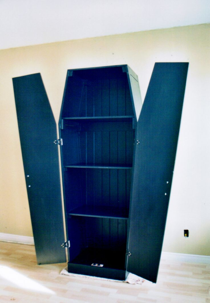 coffin-shaped armoire, commission project | Decorating for ...