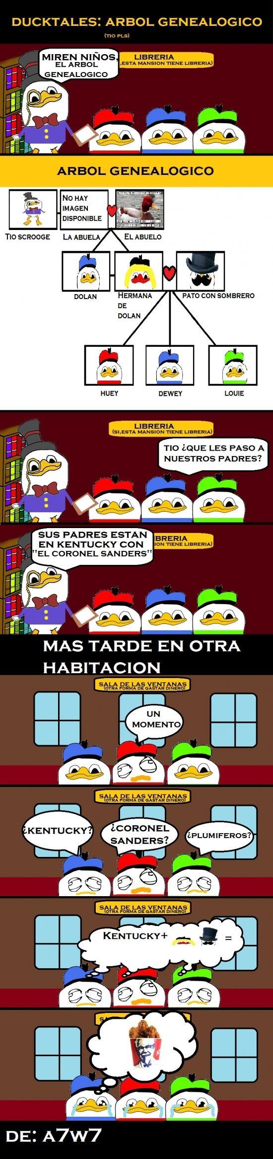 Duck tales: El árbol genealógico        Gracias a http://www.cuantocabron.com/   Si quieres leer la noticia completa visita: http://www.estoy-aburrido.com/duck-tales-el-arbol-genealogico/