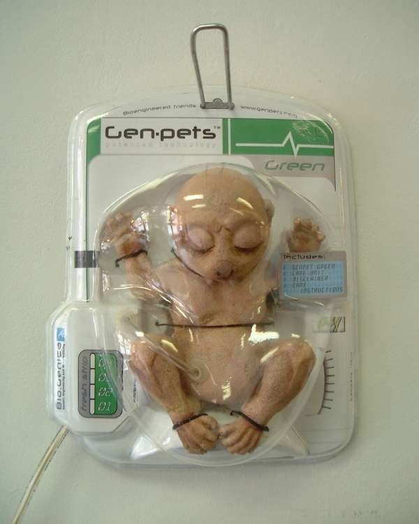 Bio-Genica is a Bioengineering Company that has combined, and modified existing DNA to create Genpets - living, breathing mammals - flesh and blood just like any other animal. Packaged in plastic they hang on retail shelves in a chemically induced type of hibernation controlled by a protein in the packages' nutrient supply tubes