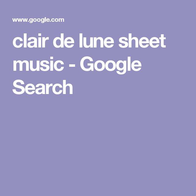 clair de lune sheet music - Google Search
