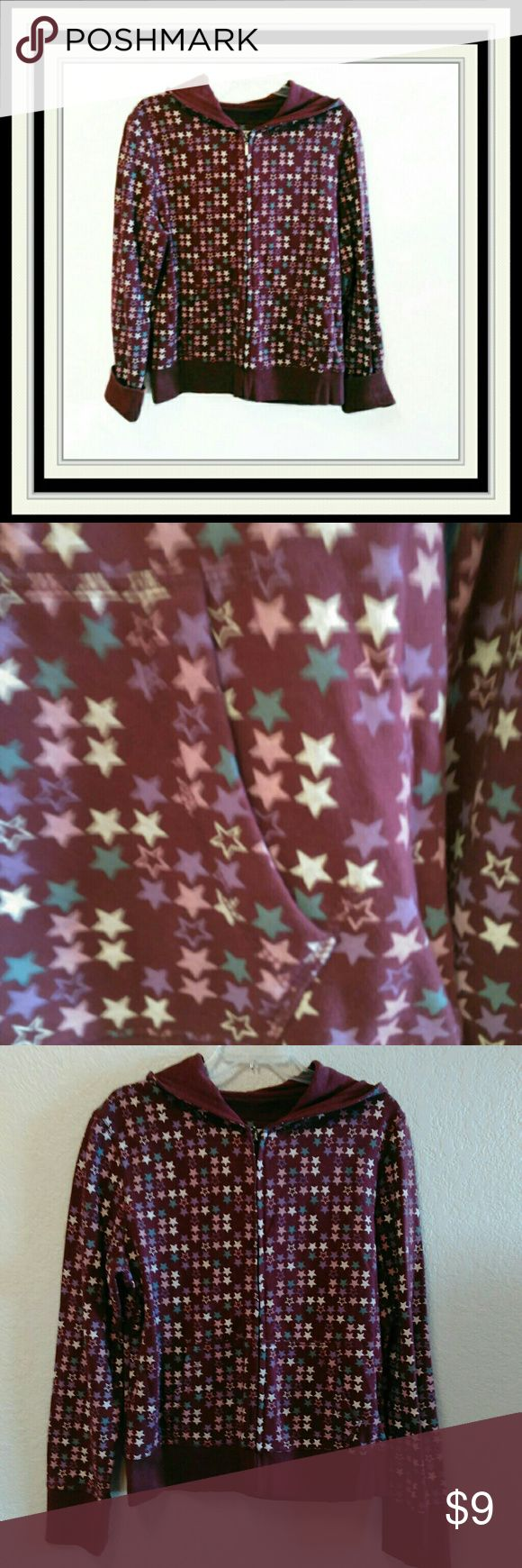 """Aeropostale Zip Up Hoodie L-3 Size XL.  Characterized by Multi Colored Stars to decorate the hoodie.  Chest is 20"""".  Length is 25"""".  Measurements are approximate in the flat position.  EUC Aeropostale Tops Sweatshirts & Hoodies"""