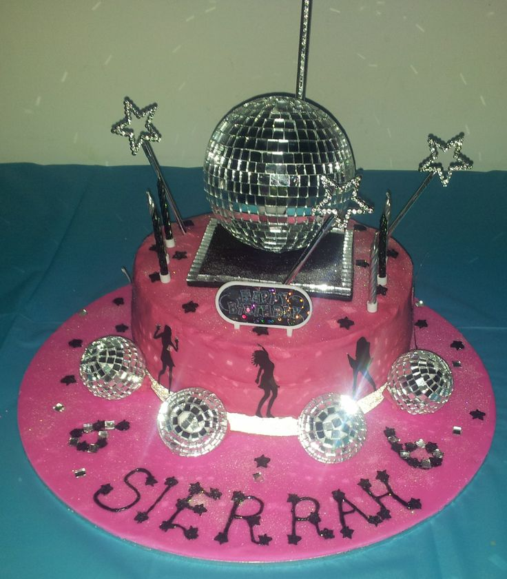 Sierrah S Disco Cake With A Full Stage Birthday Cake