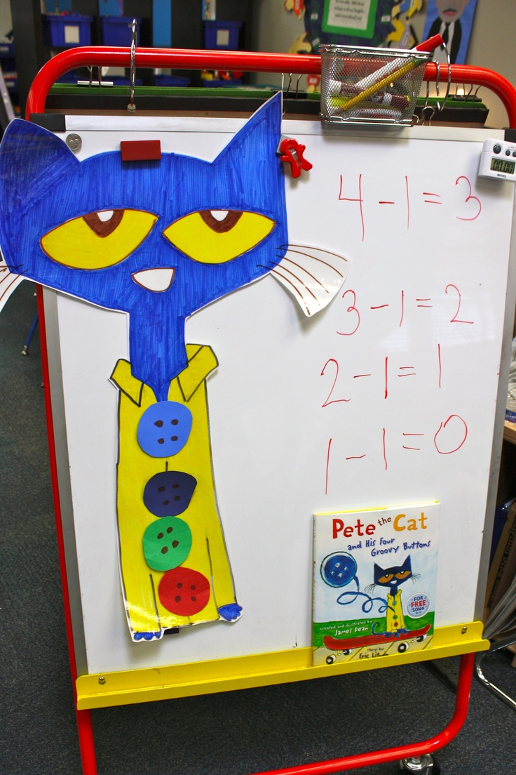 Pete the Cat and His Four Groovy Buttons - Subtraction