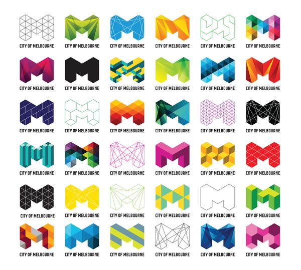 City of Melbourne logo variations by Jason Little, via Behance: Design Inspiration,  Internet Site,  Website, Melbourne, Cities, Web Site, Logos Design, Graphics Design, Branding