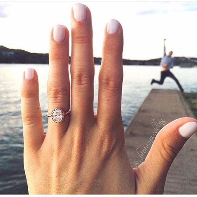 How's this for an engagement announcement? Absolutely in love with this adorable photo! Tag your girls and love!                                                                                                                                                      More
