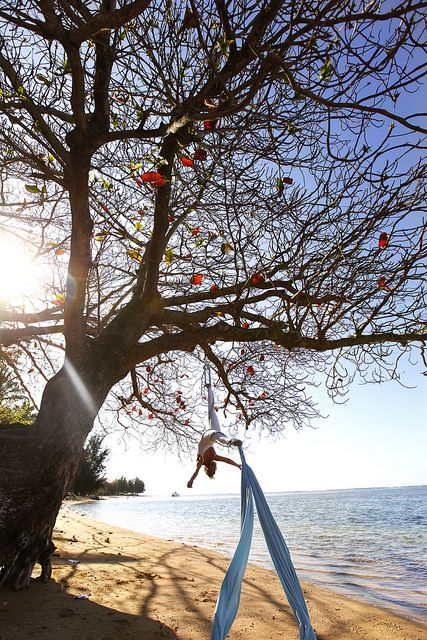 Beach Aerial Dance by glitzbodyart, via Flickr