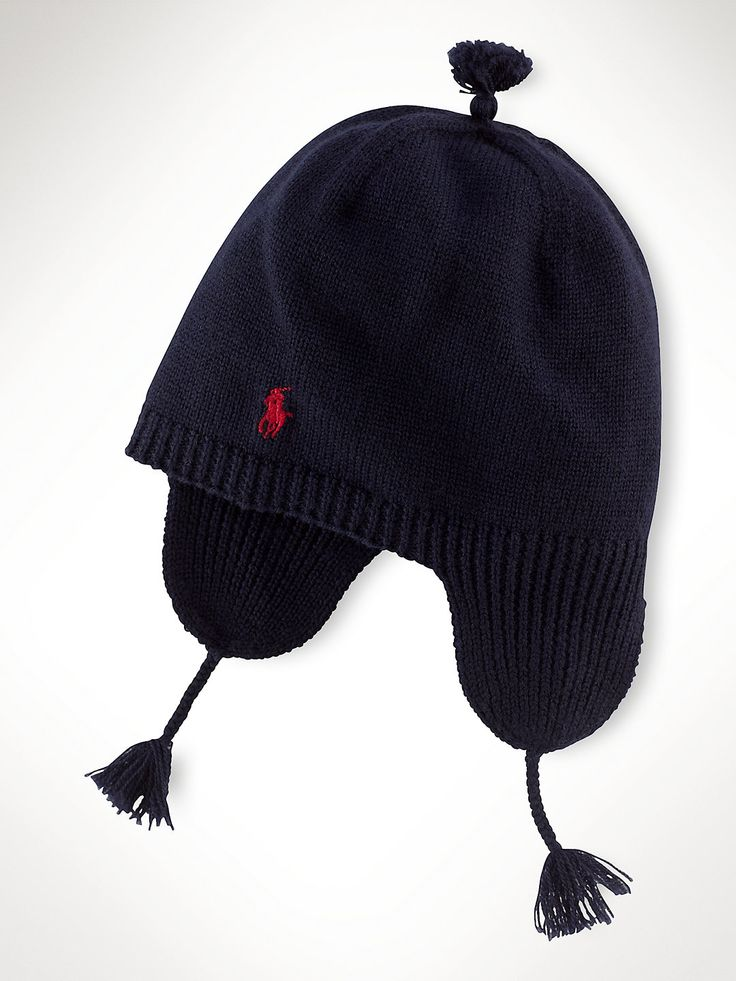 Cashmere Ribbed Earflap Hat - Accessories Boys 1½-6 Years - Ralph Lauren UK