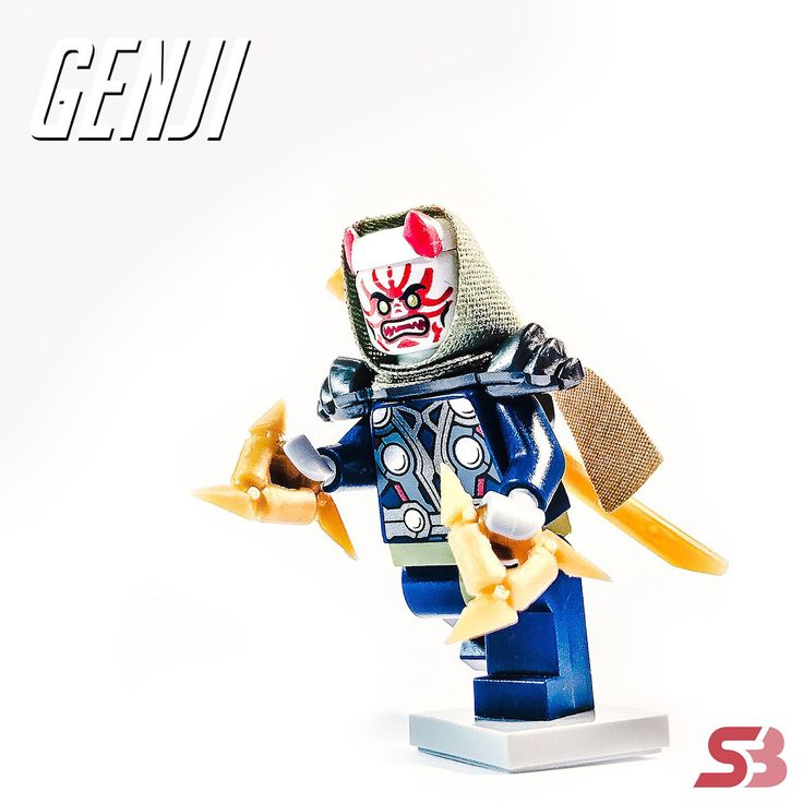 """27 Likes, 2 Comments - []._.] (@h0u5t0n) on Instagram: """"My fifth Lego inspired Overwatch Hero is available for preorder. Oni Genji will be shipping the…"""""""