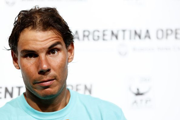 Rafael Nadal at press conference in Argentina. (Photo by Gabriel Rossi/LatinContent/Getty Images)