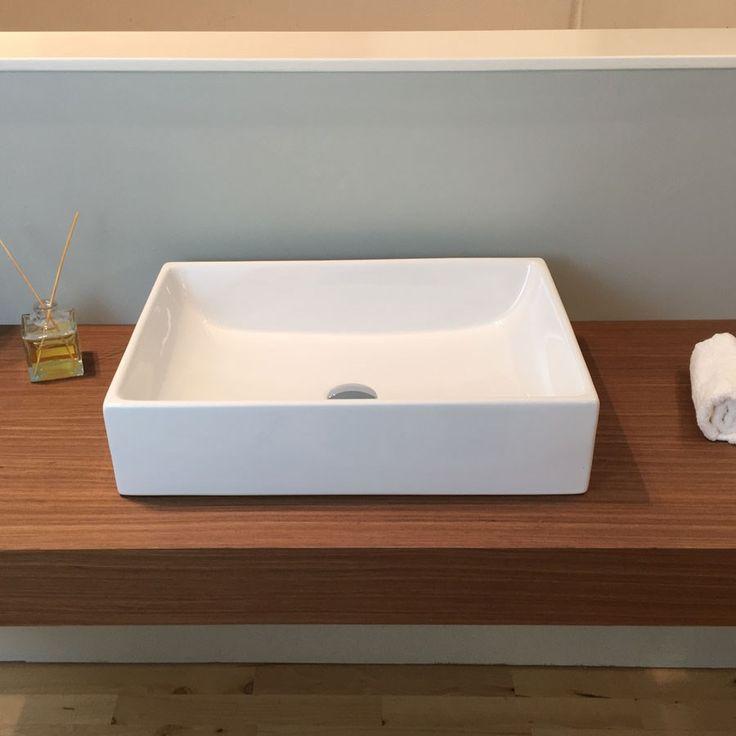 Håndvask Thin Square glaseret på 4 sider