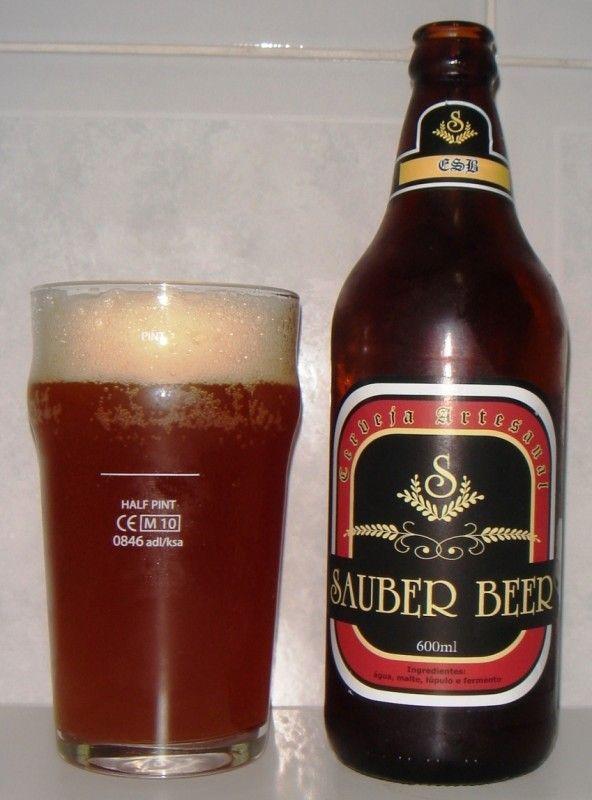 Cerveja Sauber Beer ESB, estilo Extra Special Bitter/English Pale Ale, produzida por Sauber Beer, Brasil. 6.5% ABV de álcool.
