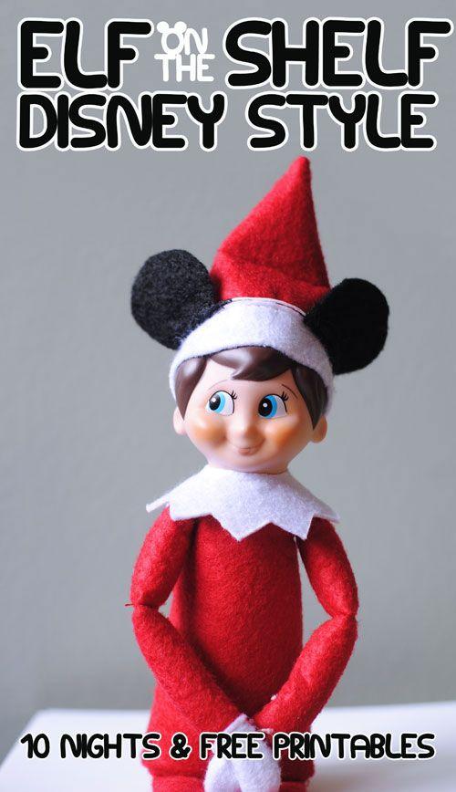 10 Disney Elf on a Shelf Ideas and Free Printables