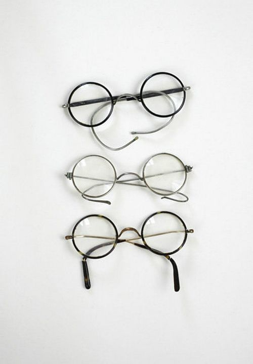 Old-fashioned glasses - dap·per/ dean