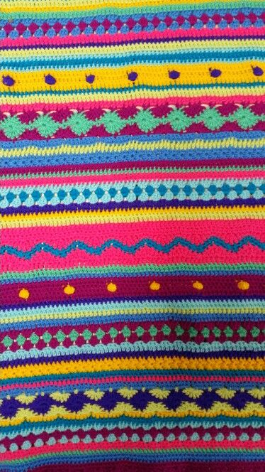 As we go stripy crochet along from one of our workshops