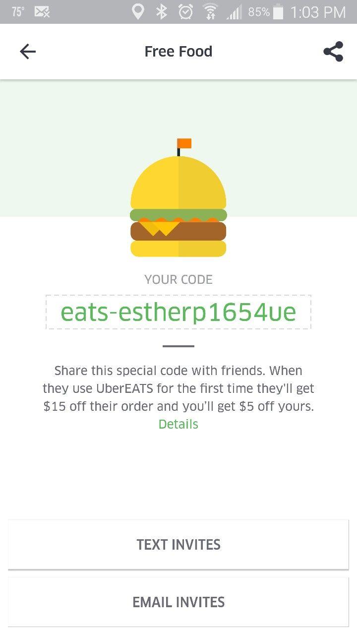 UberEats Promo code 2016 | Afford Everything | Pinterest