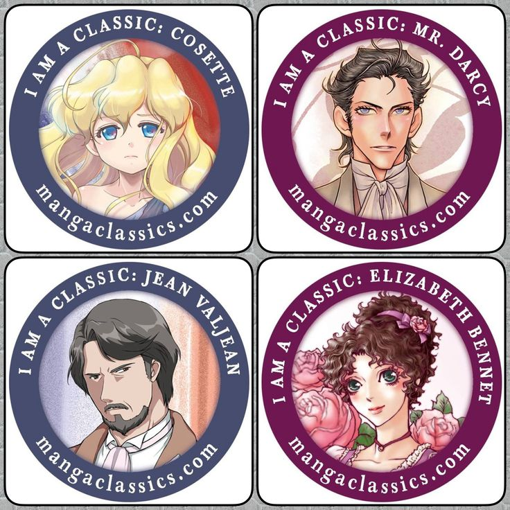 Which classic character are YOU? Pick your favorite character and use this as your Avatar/Icon! #JaneAusten #PrideAndPrejudice #LesMiserables #VictorHugo #Cosette #JeanValJean #MrDarcy #ElizabethBennet #mangaclassics