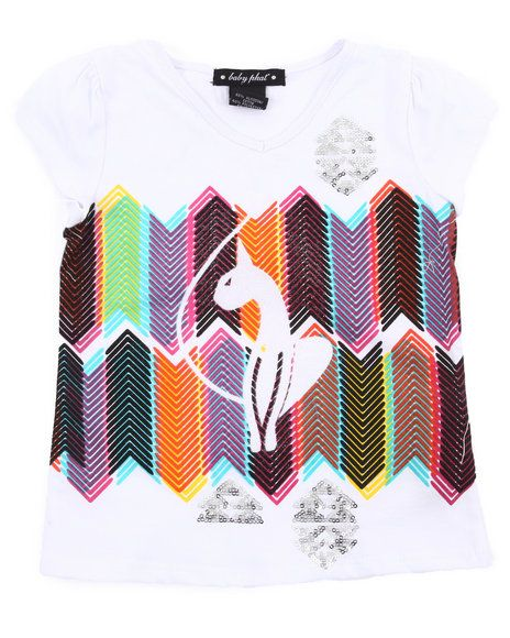 20.00 The Geometric Kitty Tee by Baby Phat